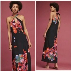 Maeve Cayman silk maxi dress
